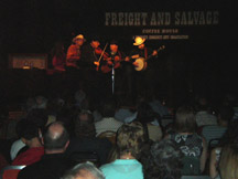 That's  Roz on the bass! Freight and Salvage with the Mighty Crows August 11, 2007